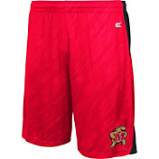 Colosseum Athletics Men's Maryland Terrapins Red Sleet Performance Shorts