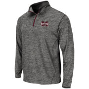 Colosseum Athletics Men's Mississippi State Bulldogs Grey Action Pass Quarter-Zip