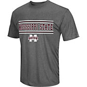 Colosseum Athletics Men's Mississippi State Bulldogs Grey Matrix T-Shirt