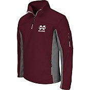 Colosseum Men's Mississippi State Bulldogs Maroon Quarter-Zip Plow Jacket