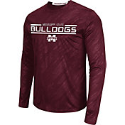 Colosseum Athletics Men's Mississippi State Bulldogs Maroon Sleet Long Sleeve Performance Shirt
