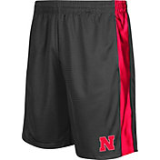 Colosseum Athletics Men's Nebraska Cornhuskers Grey Layup Shorts