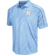 Chiliwear Men's UNC Tar Heels Carolina Blue Sleet Performance Polo