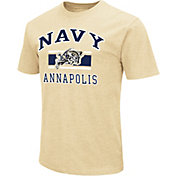 Colosseum Athletics Men's Navy Midshipmen Gold Dual Blend T-Shirt