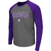 Colosseum Men's Northwestern Wildcats Grey Olympus Long Sleeve Shirt