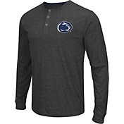 Colosseum Athletics Men's Penn State Nittany Lions Charcoal Long Sleeve Henley T-Shirt