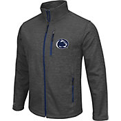Colosseum Athletics Men's Penn State Nittany Lions Grey Backfield II Jacket