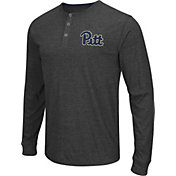 Colosseum Athletics Men's Pitt Panthers Charcoal Long Sleeve Henley T-Shirt