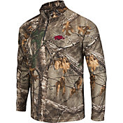 Colosseum Athletics Men's Arkansas Razorbacks Camo Decoy Quarter-Zip Wind Shirt