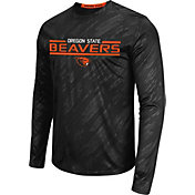 Colosseum Athletics Men's Oregon State Beavers Sleet Black Long Sleeve Performance Shirt
