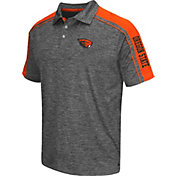 Chiliwear Men's Oregon State Beavers Grey Birdie Polo