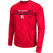 Colosseum Athletics Men's Rutgers Scarlet Knights Scarlet Sleet Long Sleeve Performance Shirt