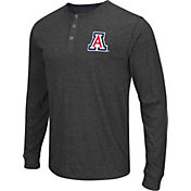 Colosseum Athletics Men's Arizona Wildcats Charcoal Long Sleeve Henley T-Shirt