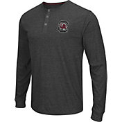 Colosseum Athletics Men's South Carolina Gamecocks Charcoal Long Sleeve Henley T-Shirt