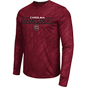 Colosseum Athletics Men's South Carolina Gamecocks Garnet Sleet Long Sleeve Performance Shirt