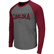 Colosseum Men's South Carolina Gamecocks Grey Olympus Long Sleeve Shirt