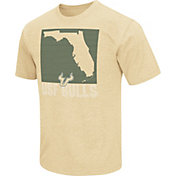 Colosseum Athletics Men's South Florida Bulls Gold State of the Union T-Shirt