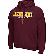 Colosseum Athletics Men's Arkansas Razorbacks Cardinal Performance Fleece Pullover Hoodie