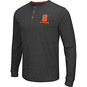 Colosseum Athletics Men's Syracuse Orange Charcoal Long Sleeve Henley T-Shirt