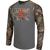 Colosseum Athletics Men's Syracuse Orange Grey/Camo Break Action Long Sleeve Shirt