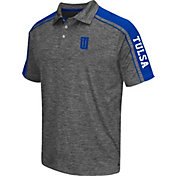Chiliwear Men's Tulsa Golden Hurricane Grey Birdie Polo