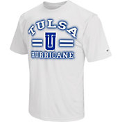 Colosseum Athletics Men's Tulsa Golden Hurricane Haze White T-Shirt