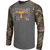 Colosseum Athletics Men's Tennessee Volunteers Grey/Camo Break Action Long Sleeve Shirt