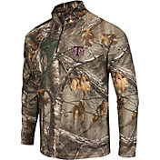 Colosseum Athletics Men's Texas AM Aggies Camo Decoy Quarter-Zip Wind Shirt