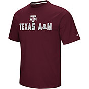 Colosseum Athletics Men's Texas AM Aggies Maroon Pique Performance T-Shirt