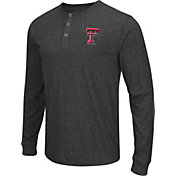 Colosseum Athletics Men's Texas Tech Red Raiders Charcoal Long Sleeve Henley T-Shirt