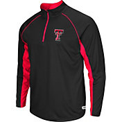 Colosseum Athletics Men's Texas Tech Red Raiders Airstream Black Quarter-Zip Windshirt