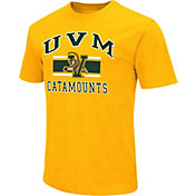 Colosseum Athletics Men's Vermont Catamounts Gold Dual Blend T-Shirt