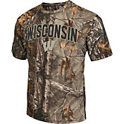 Colosseum Athletics Men's Wisconsin Badgers Camo Brow Tine T-Shirt