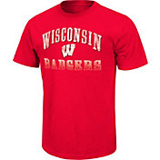 Colosseum Athletics Men's Wisconsin Badgers Red Contour T-Shirt