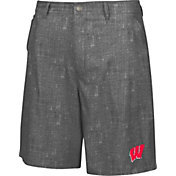 Chiliwear Men's Wisconsin Badgers Grey Match Play Short