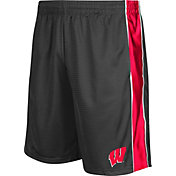 Colosseum Athletics Men's Wisconsin Badgers Grey Layup Shorts