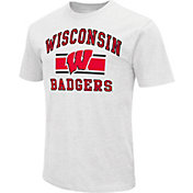 Colosseum Athletics Men's Wisconsin Badgers White Dual-Blend T-Shirt