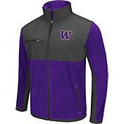 Colosseum Athletics Men's Washington Huskies Purple/Grey Mesa Polar Fleece Jacket