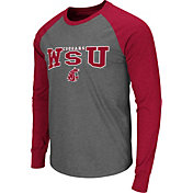 Colosseum Men's Washington State Cougars Grey Olympus Long Sleeve Shirt