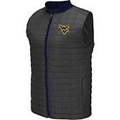 Colosseum Athletics Men's West Virginia Mountaineers Grey Rectangle Padded Vest