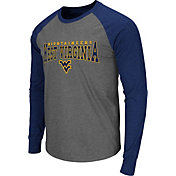 Colosseum Men's West Virginia Mountaineers Grey Olympus Long Sleeve Shirt