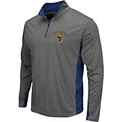 Colosseum Athletics Men's West Virginia Mountaineers Grey Ridge Runner Quarter-Zip Jacket