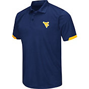 Chiliwear Men's West Virginia Mountaineers Blue Performance Polo