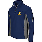 Colosseum Men's West Virginia Mountaineers Blue Quarter-Zip Plow Jacket