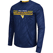 Colosseum Athletics Men's West Virginia Mountaineers Blue Sleet Long Sleeve Performance Shirt