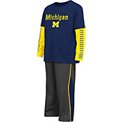 Colosseum Athletics Toddler Michigan Wolverines Blue Xenon Set