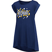 Colosseum Athletics Girls' West Virginia Mountaineers Blue Toddler Daisy Dress