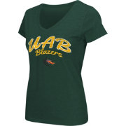 Colosseum Athletics Women's UAB Blazers Green Script Graphic V-Neck T-Shirt