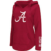 Colosseum Athletics Women's Alabama Crimson Tide Crimson Walkover V-Neck Hooded Pullover