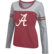 Colosseum Athletics Women's Alabama Crimson Tide Crimson Leap Scoop Neck Long Sleeve Shirt
